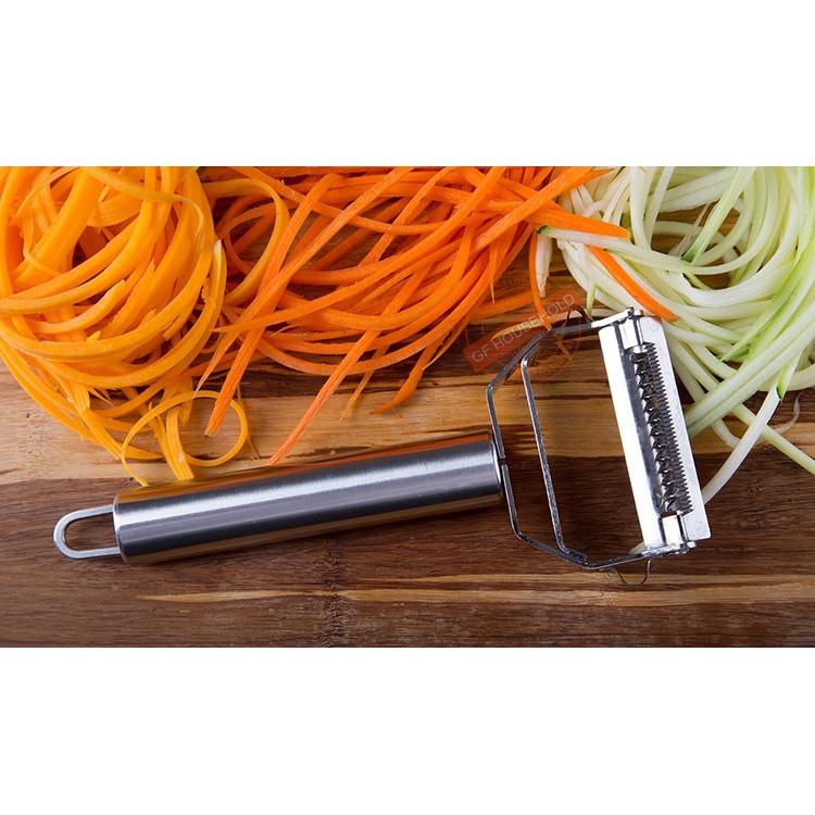 Dao nạo, gọt củ quả nhà bếp, dụng cụ dao bào hai lớp - Sản phẩm dụng cụ nhà bếp cao cấp - Hàng chuẩn Khalik
