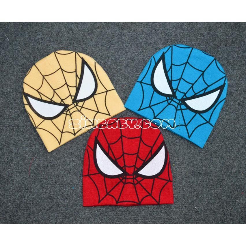 Mũ len siêu nhân nhện cho bé trai