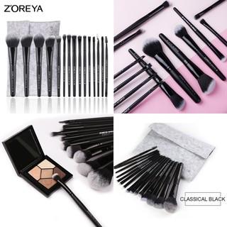 Bộ 15 cọ trang điểm Zoreya kèm túi đựng ZZ15 - đen thumbnail