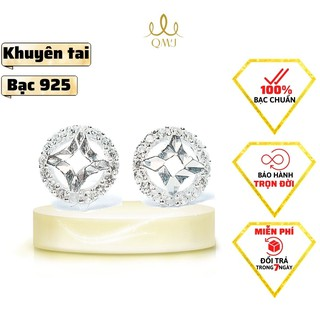 [Mã SKAMCLU8 giảm 10% cho đơn từ 100K] Bông tai bạc QMJ Nụ Kim tiền nạm đá tinh xảo - Q067 thumbnail