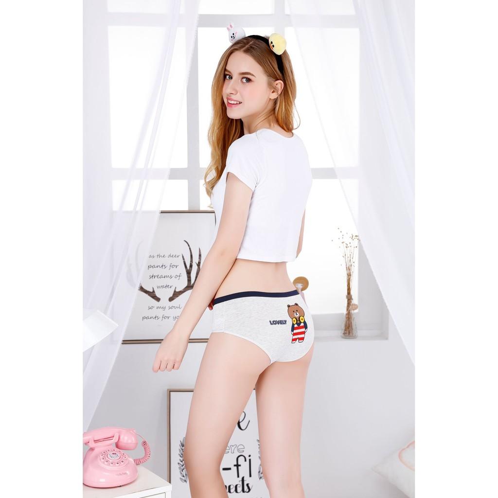 Set 5 quần lót Cotton nhiều họa tiết C02
