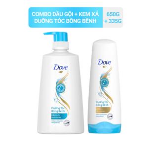 Bộ sản phẩm Dove Dưỡng Tóc Bồng Bềnh dầu gội 650g kem xả 335g