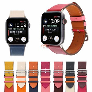 Dây da Apple Watch 2 mảnh 2 màu size 38/40mm 42/44mm