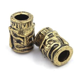 [Bead – Paracord bracelet] 01 cặp Bead Totem Golem bộ lạc da đỏ (Màu vàng cổ)