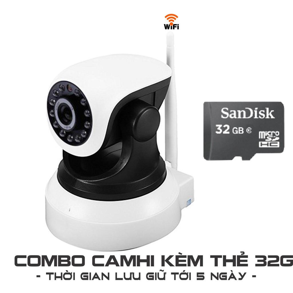 [COMBO] Camera IP WIFI/3G CAMHI TẶNG thẻ 32g