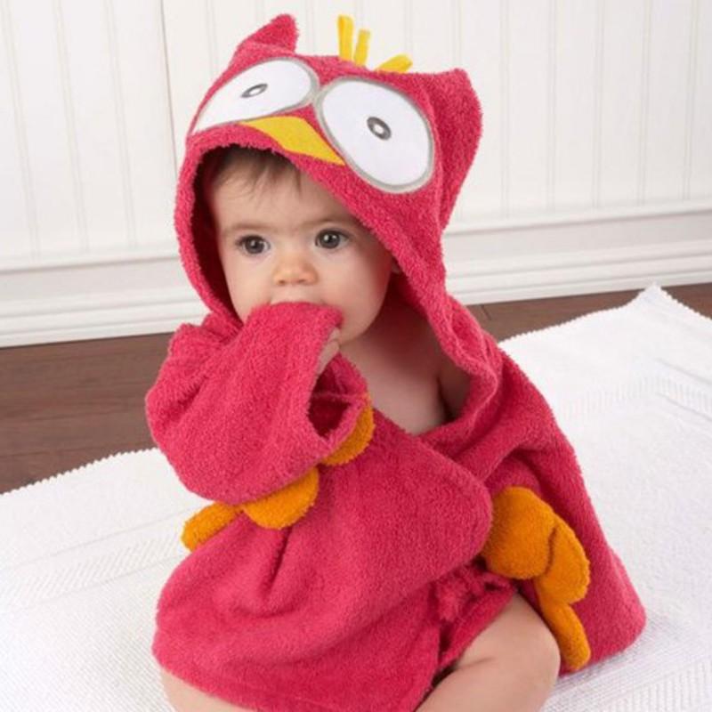 Khăn choàng tắm có mũ dễ thương cho bé
