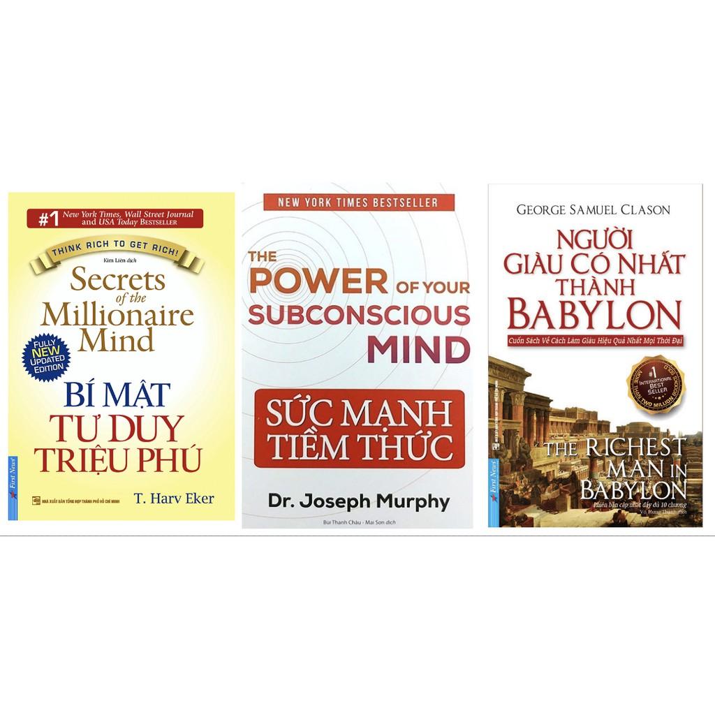 Sách - combo sức mạnh tiềm thức, bí mật tư duy triệu phú và người giàu có nhất thành babylon(lẻ, trọn bộ)