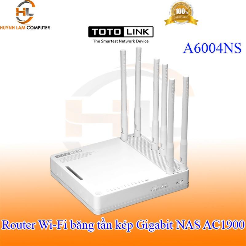 Router WiFi băng tần kép Gigabit NAS AC1900 Totolink A6004NS-DGW phân phối