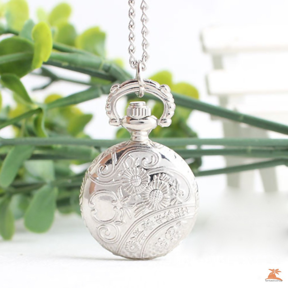 #Đồng hồ bỏ túi# Retro small Size Spider Webs Pocket Watch/Watch Necklace Fashion Jewelry Pendant Watch Necklace