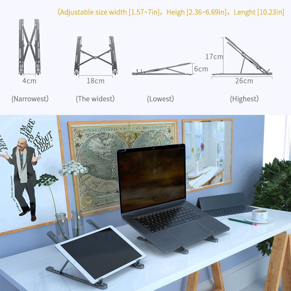 Giá Đỡ Laptop Essager Cho Macbook Pro Notebook Pc Làm Bằng Nhôm Có Thể Gập Tùy Chỉnh Góc