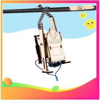 Đồ Chơi Mô Hình Thông Minh Tự Lắp Ráp Bằng Gỗ Kiểu Robot Đu Dây