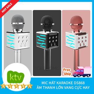 Mic Karaoke kiêm loa bluetooth Phát ra loa thùng âm thanh cực ấm Trầm kết nối Tv,Đt,Mtb,Loa Thùng model 2022