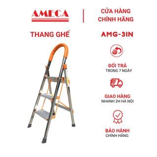 Thang nhôm ghế 3 Bậc Ameca AMG-3IN, 3 bậc, chính hãng, bảo hành 18 tháng thumbnail