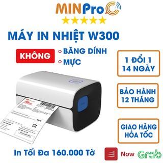 [Mã 157ELSALE hoàn 7% đơn 300K] Máy in nhiệt MINPRO W300 in đơn hàng, tem mã vạch, hóa đơn, dùng giấy in nhiệt tự dính