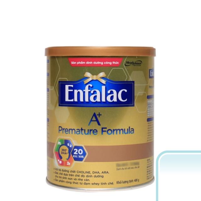 [Mã NOWSHIPVUI2 giảm 25k đơn 50k] Sữa bột Enfalac Premature Fomula lon 400g