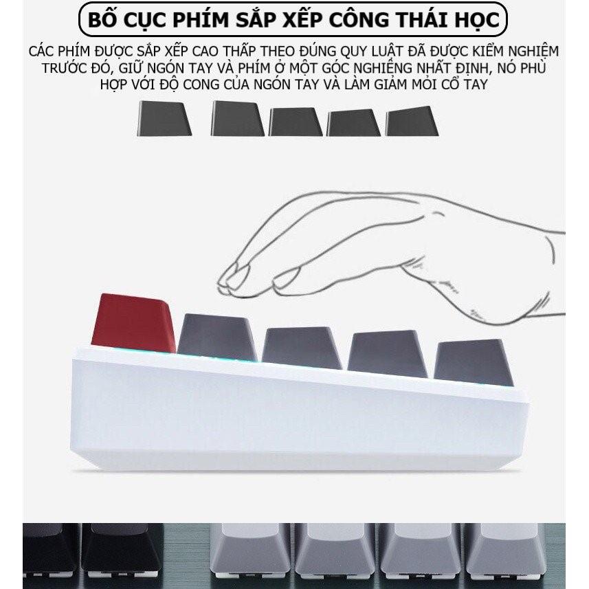 BÀN PHÍM CƠ BLUETOOTH KHÔNG DÂY RF87 LED RGB ĐẸP,BÀN  PHÍM MÁY TÍNH, ĐIỆN THOẠI MÁY TÍNH BẢNG/BÀN DI CHUỘT RGB