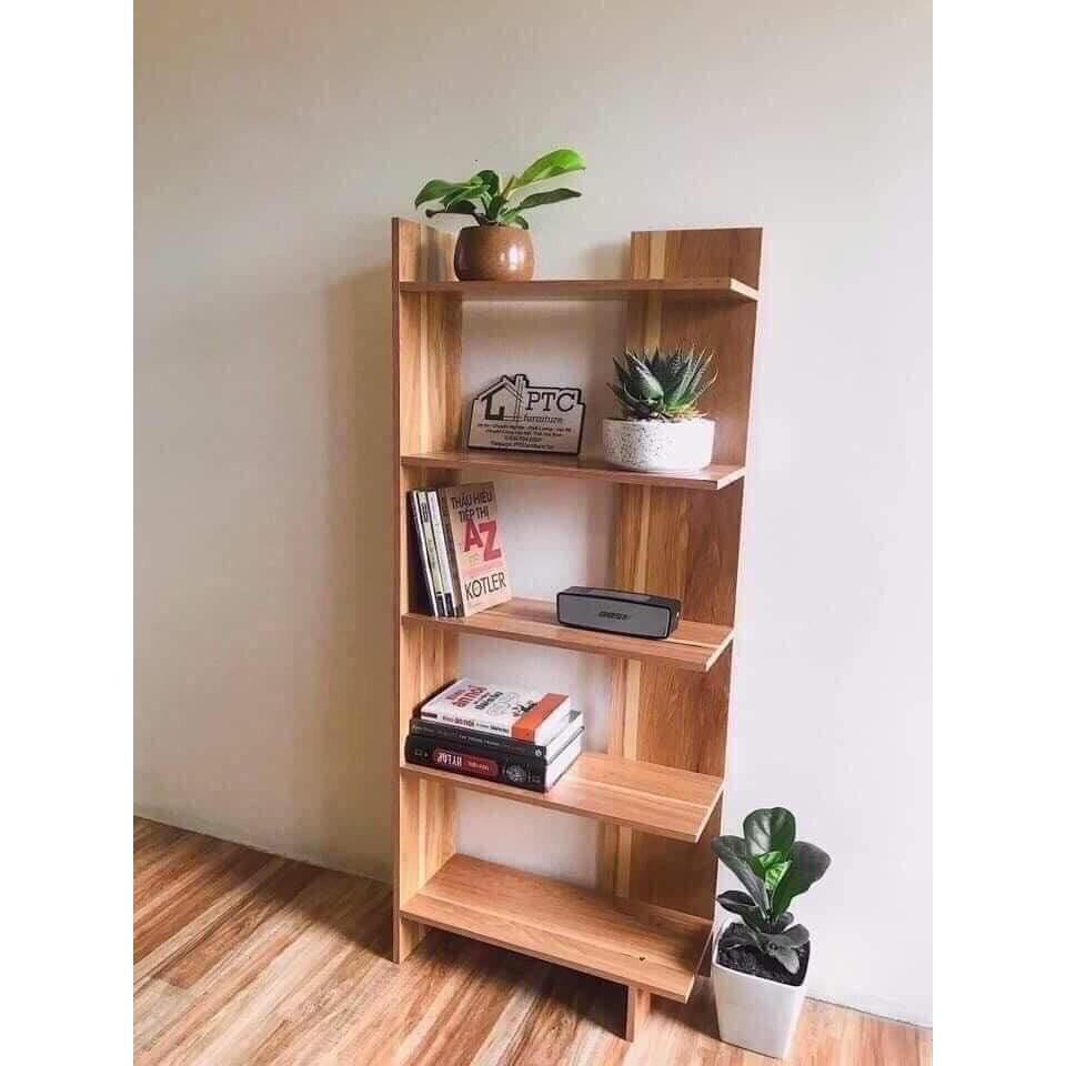 Kệ sách gỗ 5 tầng đa năng bằng gỗ cứng cực đẹp (giá tại nhà