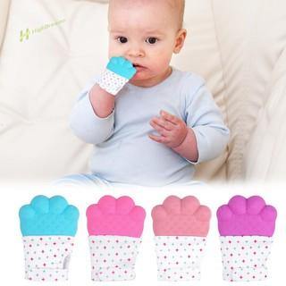 ★Hi★Baby Glove Sound Cartoon Convex Molar Mitten Nursing Chewable Toy