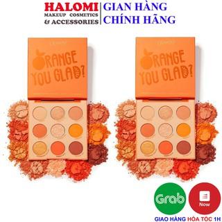 Bảng Mắt Colorpop Orange 9 Ô You Glad Pressed Powder Palette tone cam vàng cực xinh chính hãng HALOMI thumbnail