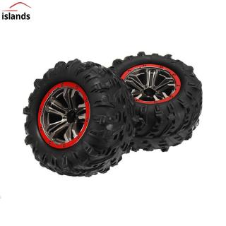 2PCS Hub Wheel Rim & Tires for Xinlehong 9125 1/10 2.4G 4WD RC Car Parts No.25-ZJ02