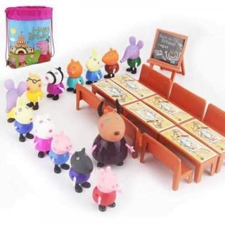 Bộ Heo pepa pig lớp học dành cho bé yêu