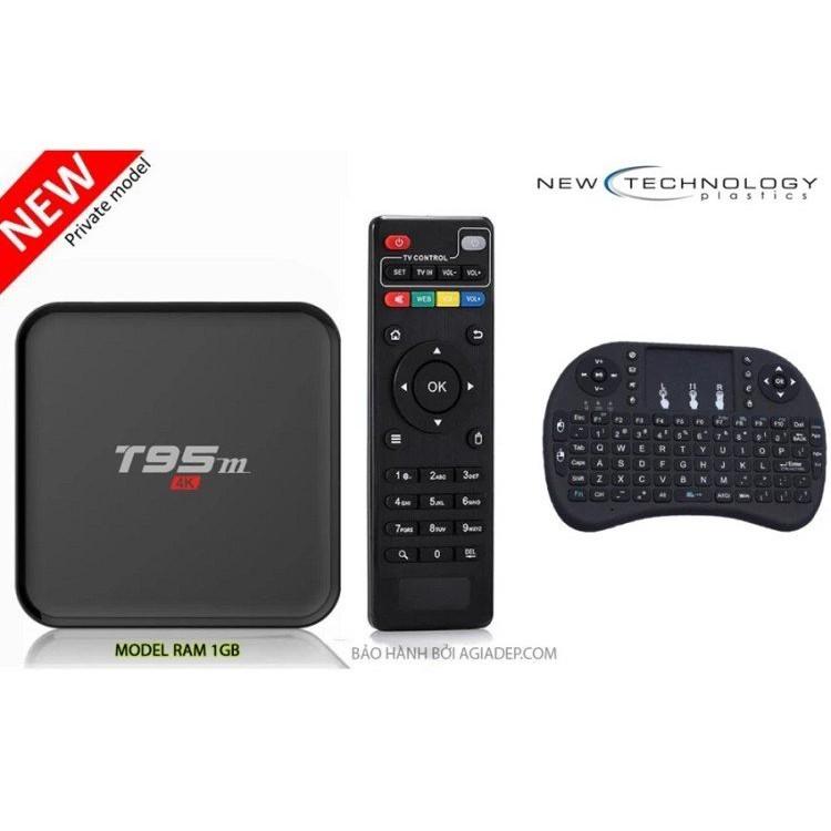 Tivi BOX T95M siêu nét 4K tích hợp FPT Play và Bàn phím kiêm chuột cảm ứng