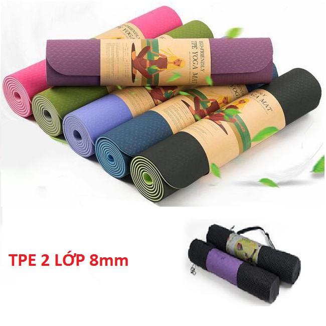 Thảm tập yoga 2 lớp TPE dày 8mm