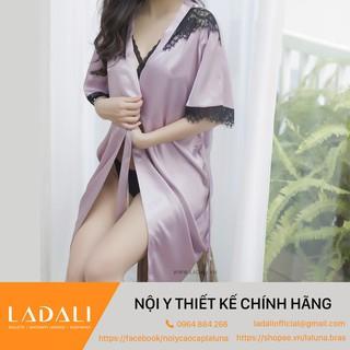 [FREESHIP] Áo Choàng Ngủ Lụa Cao Cấp Pha Ren - CN04 Thương Hiệu Ladali thumbnail