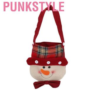 Punkstyle Cute Snowman Style Portable Christmas Eve Gift Bag Xmas Decoration Toy Supplies