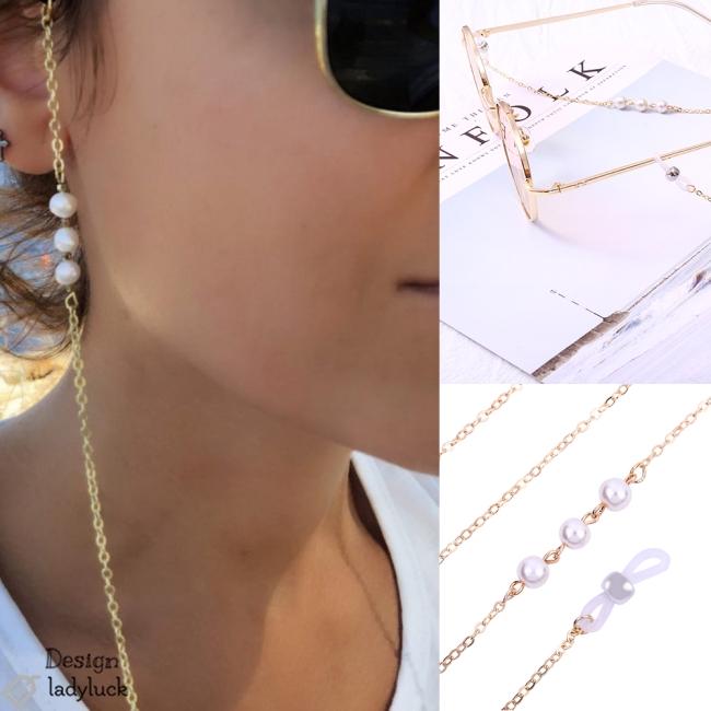 Fashion Eyeglasses Chain Pearl Decoration Sweet Style Eyeglasses Antiskid Chain