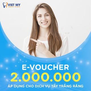 """HCM [E-Voucher] Voucher trị giá 2 triệu áp dụng dịch vụ tẩy trắng răng tại Nha Khoa Việt Mỹ giá chỉ còn <strong class=""""price"""">1.000.000.000đ</strong>"""