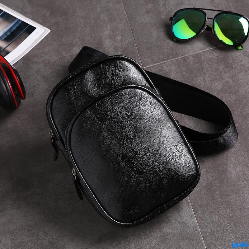 Full order 250000 shipmentsNew simple men's bag fashion bag Korean version of the new leather shoulder bag Youth outdoor