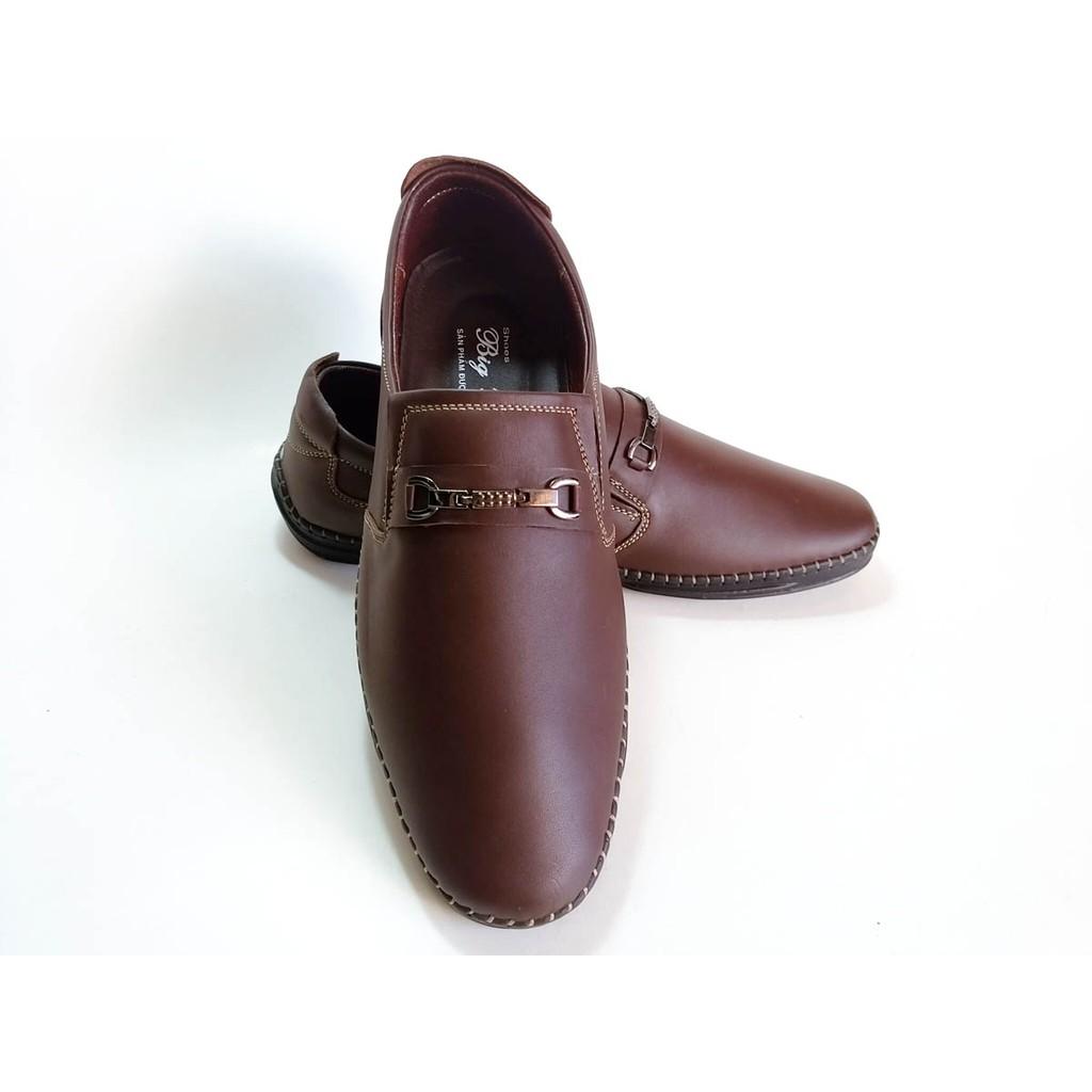 Giày Mọi BIGBEN may viền da Bò thật cao cấp GM11