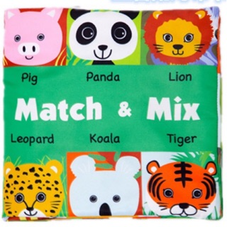 Sách vải Mix & Match – Funny zoo