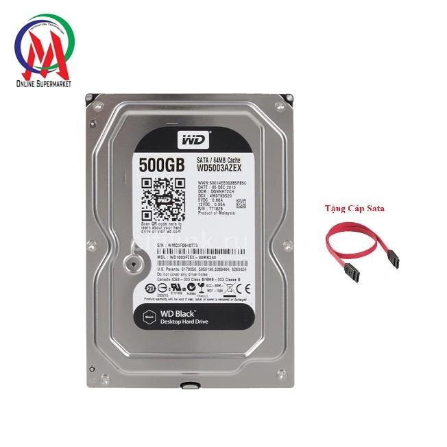 Ổ cứng máy PC HDD 500G Black Sata 3 + Tặng Cáp SATA