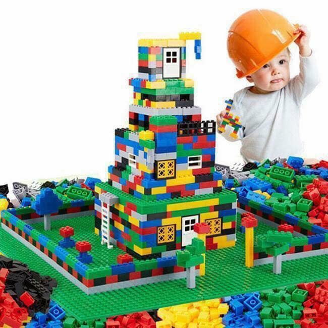 Bộ xếp hình lego 1.000 chi tiết bé thỏa sức vui chơi