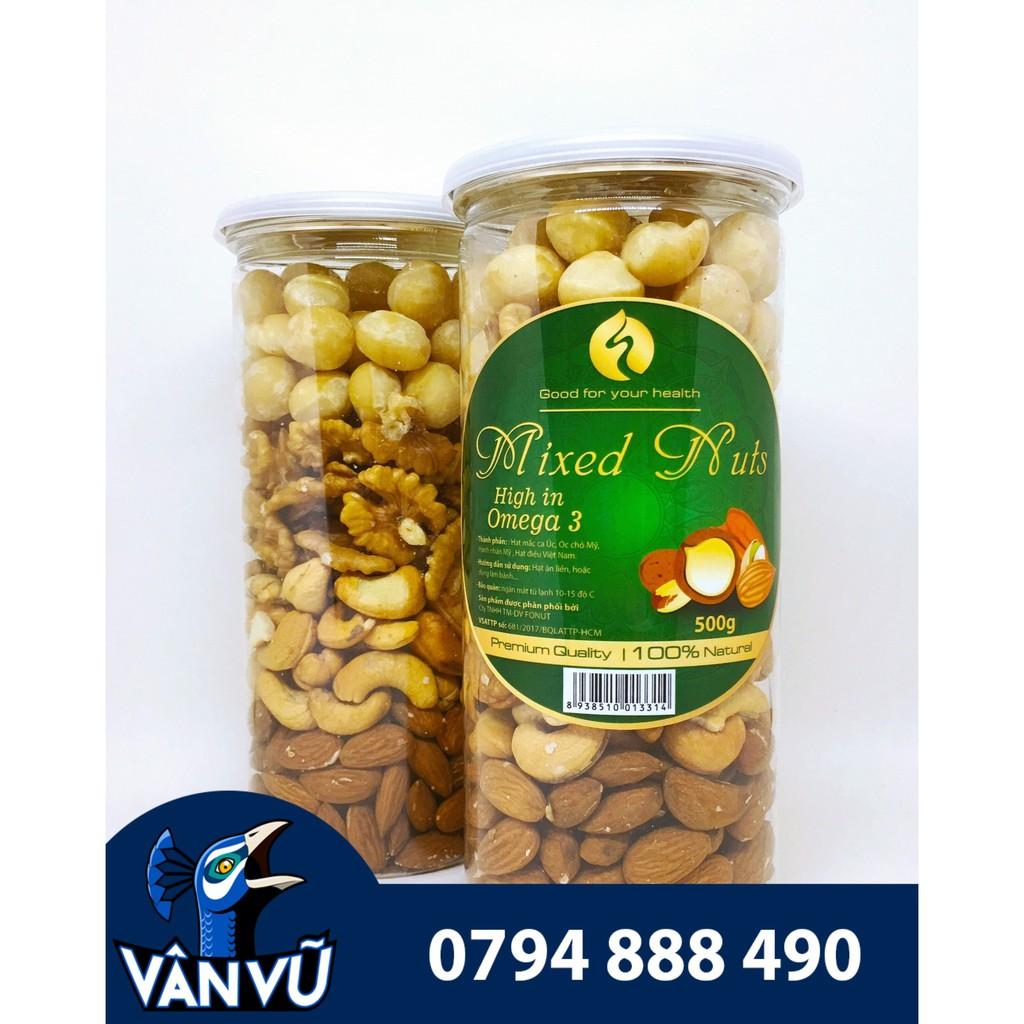 Hộp Mixed Nuts 4 Loại Hạt Đã Tách Vỏ 500g (Hạnh Nhân Mỹ, Macca Úc, Hạt Điều, Óc Chó Mỹ) Hộp Mixed Nuts 4 Loại Hạt Đã Tách Vỏ 500g (Hạnh Nhân Mỹ, Macca Úc, Hạt Điều, Óc Chó Mỹ)