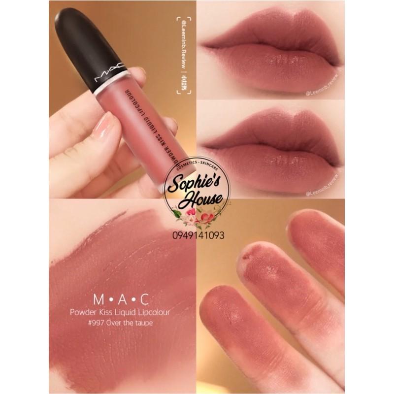 Son kem MAC Powder Kiss 998 / 991 / 989 / 988 / 997 / 994