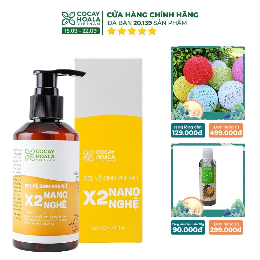 Dung dịch vệ sinh phụ nữ Giảm Ngứa Gel X2 Nano Nghệ Cỏ Cây Hoa Lá 150 ml