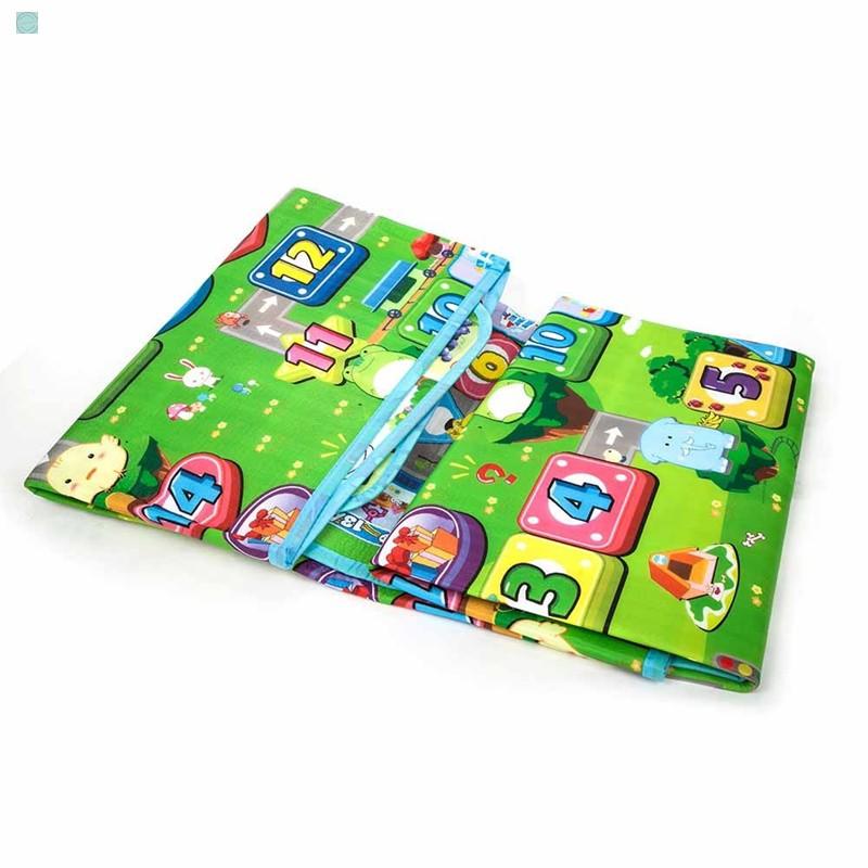 [Ưu Đãi]Thảm chơi 2 mặt cho bé Maboshi 1m8 x 2m. Chất liệu cotton mút cao cấp