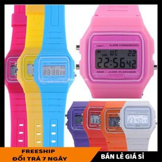 Đồng hồ đeo tay SALE ️ Đồng hồ đeo nam nữ điện tử classic  F-91W (màu đen) chống nước cao 8156