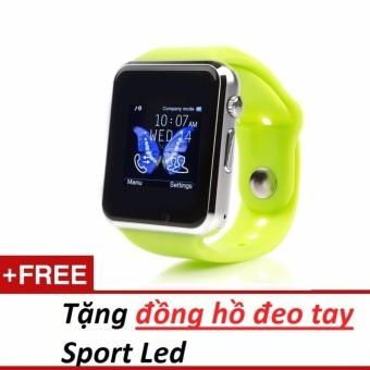 Giới thiệu sản phẩm Đồng hồ đeo tay hỗ trợ sim A1 (xanh lá)+ Đồng hồ đeo tay sport led