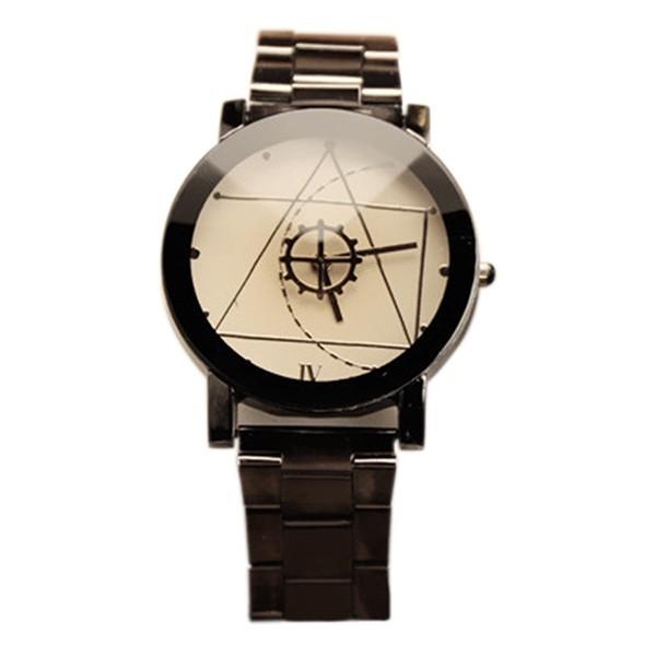 Đồng hồ mặt la bàn dây đeo thép không gỉ cho nam/nữ