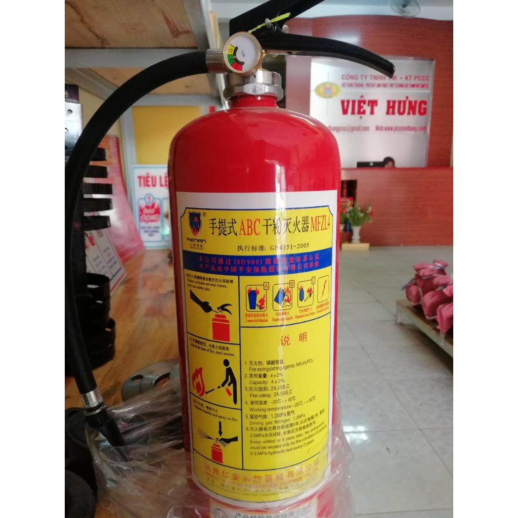 Bình chữa cháy cứu hoả dạng bột ABC MFZL4 - 4 kg