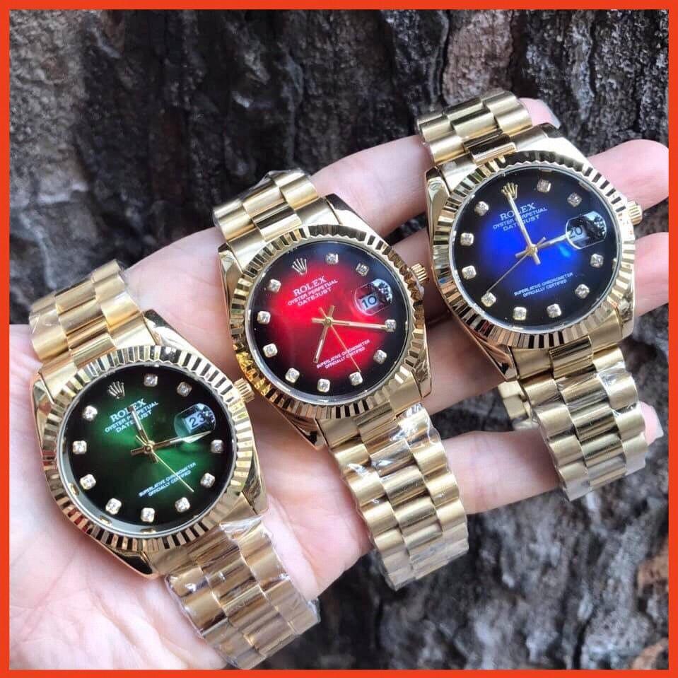 (Rolex)  Đồng Nam Rolex156 dây đặc nguyên khối, mạ không rỉ, dây full vàng - Role  - Bảo hành 12 tháng fullbox MTP-STORE