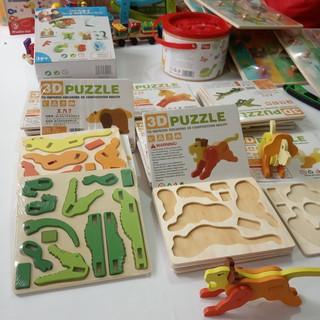 Đồ chơi gỗ, Bộ ghép hình động vật 3D cho bé