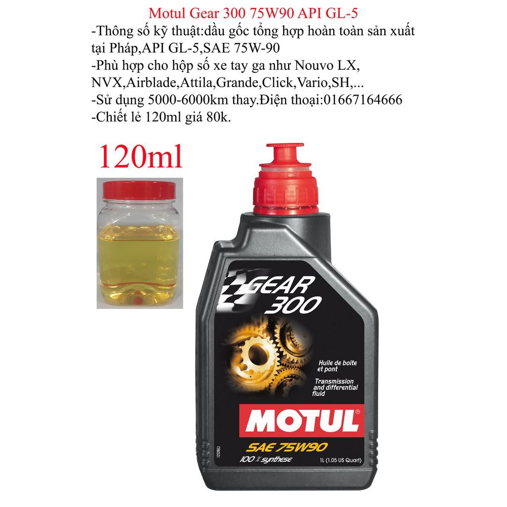 Nhớt hộp số (nhớt lap) xe tay ga Motul Gear 300 120ml - 3239905 , 347439449 , 322_347439449 , 100000 , Nhot-hop-so-nhot-lap-xe-tay-ga-Motul-Gear-300-120ml-322_347439449 , shopee.vn , Nhớt hộp số (nhớt lap) xe tay ga Motul Gear 300 120ml