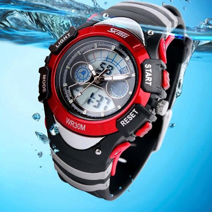 Đồng hồ trẻ em thể thao Skmei 0998 điện tử dây cao su