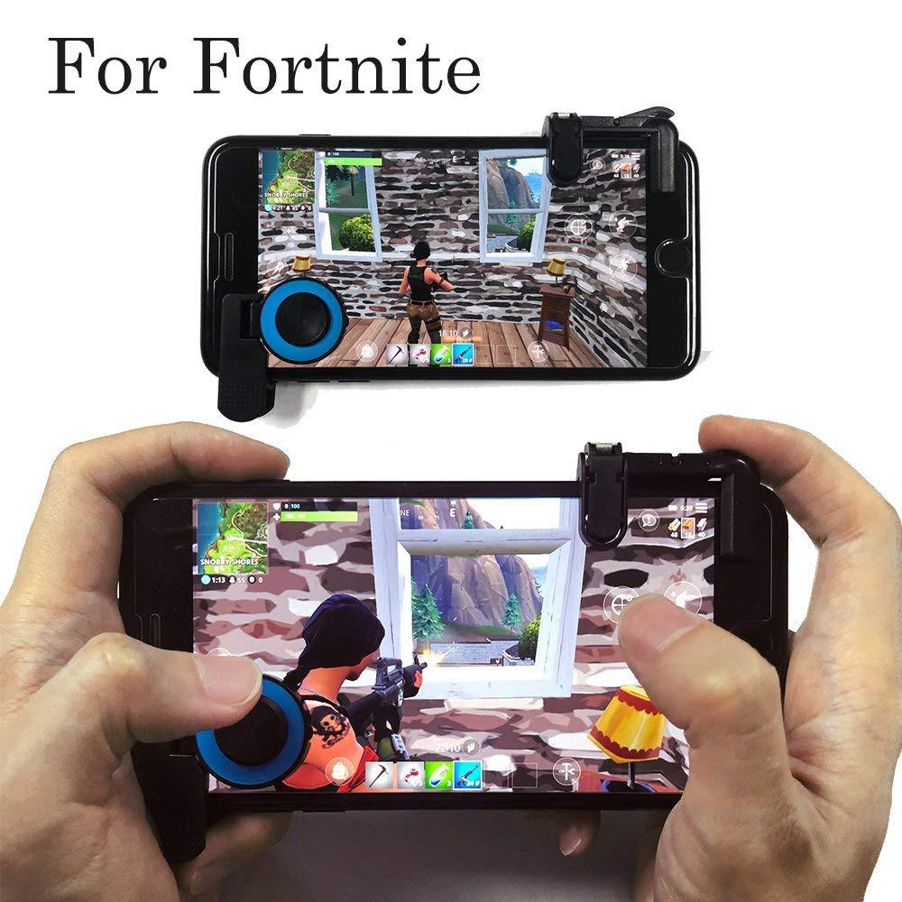 Nút Bấm Chơi Game Pubg Mobile Joystick A12 Kẹp Dọc Chơi Liên Quân Mobile - Đỏ