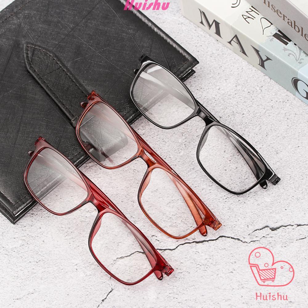 💍HS💄 Retro Presbyopic Glasses Flexible Reading Glasses Reader Eyewear TR90 Ultralight Women Men Fashion Clear Lens/Multicolor
